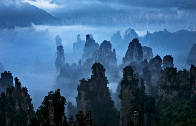 Wulingyuan Scenic and Historic Interest Area,West-sea Stone Forest
